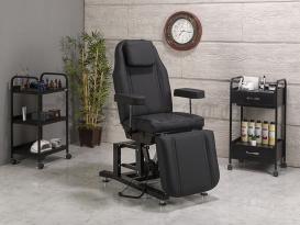 Moda-3 Motorlu Elektrikli Dövmeci Koltuğu | Siyah