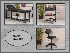 Dövme Malzemesi | Elit-S12 | Sedye (Delikli), Cihaz Sehpası, Sandalye