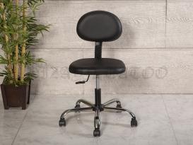 Amortisörlü Dövmeci Çalışma Sandalyesi | Siyah - Kromajlı Ayak