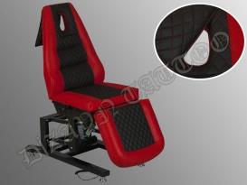 Elegance 3 Motorlu Elektrikli Dövme Tattoo Koltuğu (Kırmızı - Siyah)