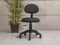 Amortisörlü Dövmeci Çalışma Sandalyesi | Siyah - Plastik Ayak